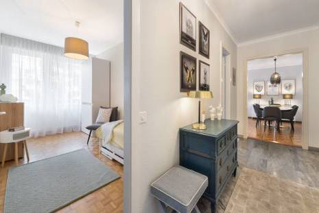 Modern Fully Furnished and Renovated Apartment, with Balcony in Geneva Center