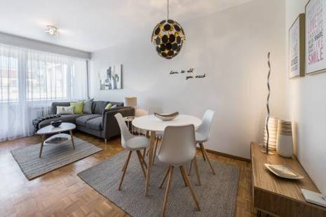 Charming Renovated Furnished Apartment, in Geneva Center for Flexible Rental
